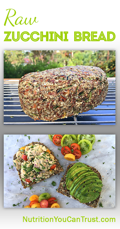 Raw zucchini bread nutrition you can trust raw zuccini bread pinterest forumfinder Choice Image