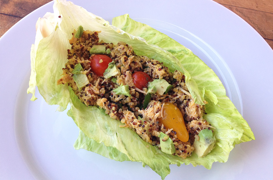 Slow-cooked orange chicken recipe:  Chicken Lettuce Wraps