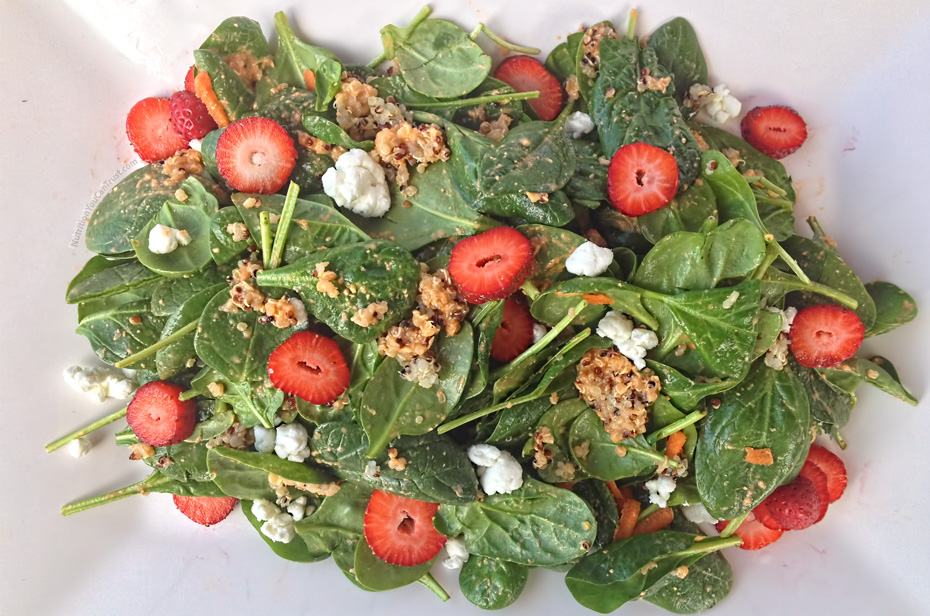 Spinach Quinoa Salad with Strawberry & Goat Cheese Recipe
