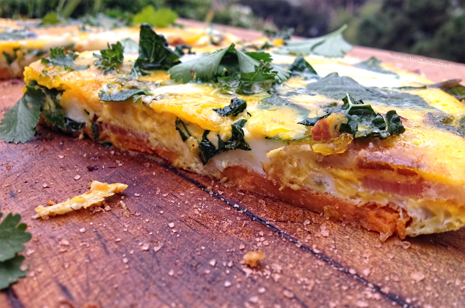 Sweet Potato Frittata Recipe with Kale, Chard & Fresh Herbs