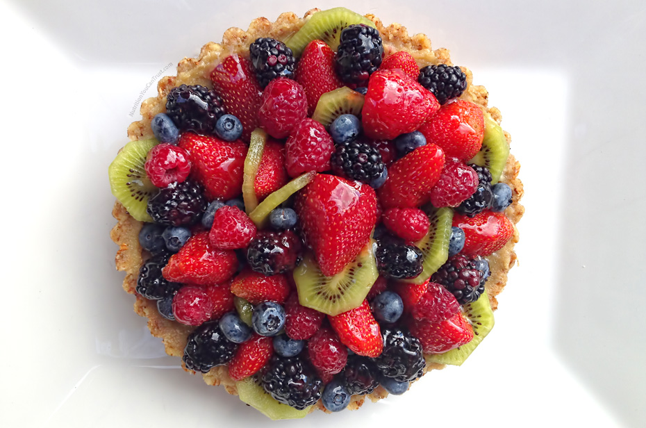Raw Mixed Fruit Tart with Vanilla Cashew Cream Filling | Nutrition You ...