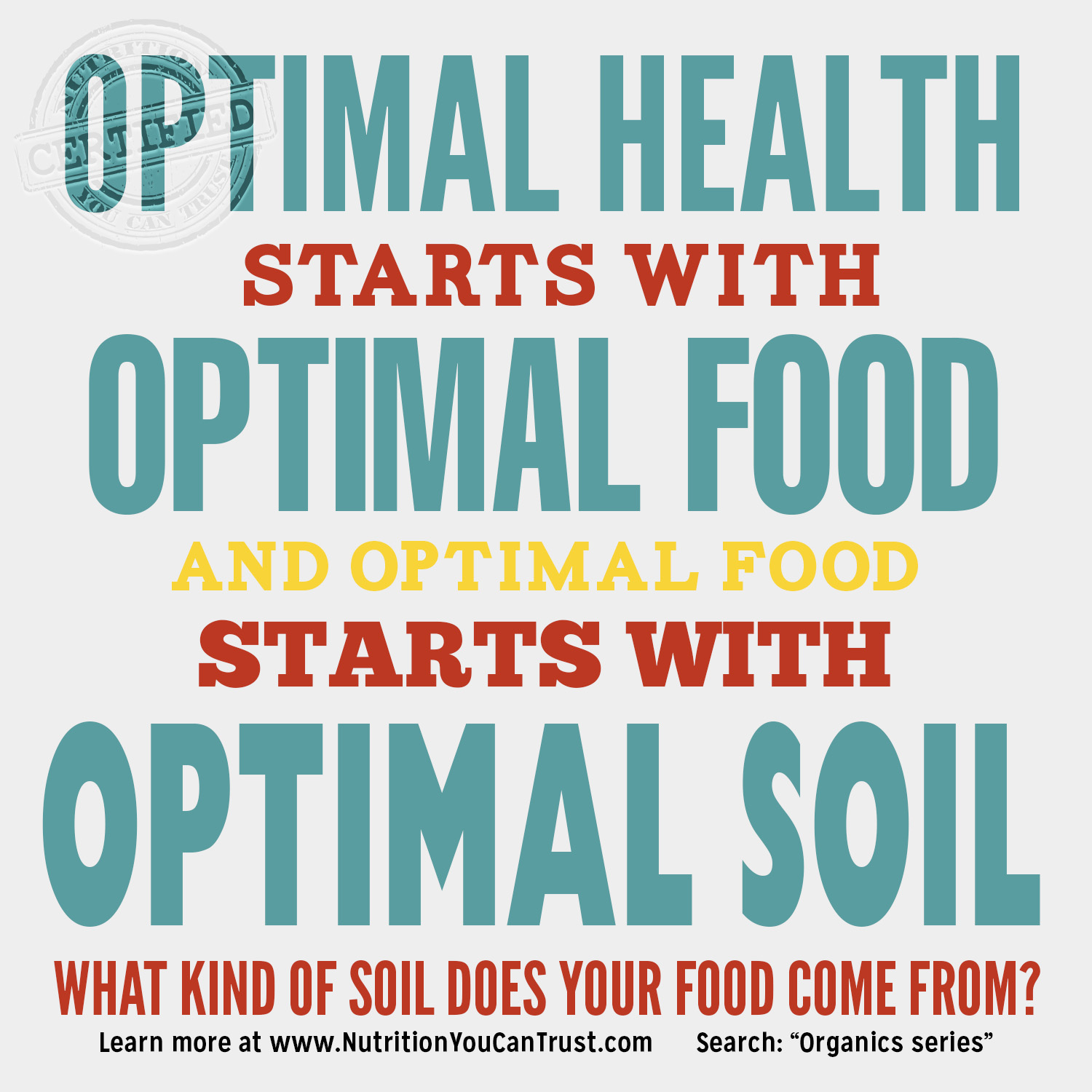 Optimal Soil equals Optimal Food