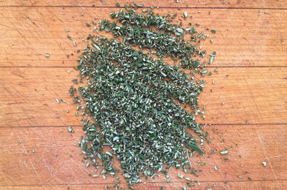 Raw Olive Bread - chopped rosemary| NutritionYouCanTrust.com
