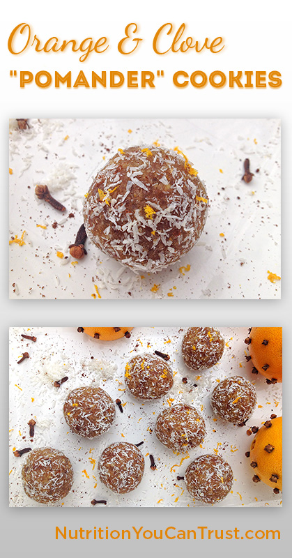 Orange & Clove Pomander Cookies - Pin