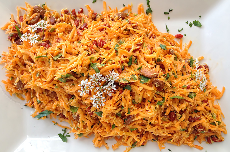 Coconut Goji Berry Carrot Salad