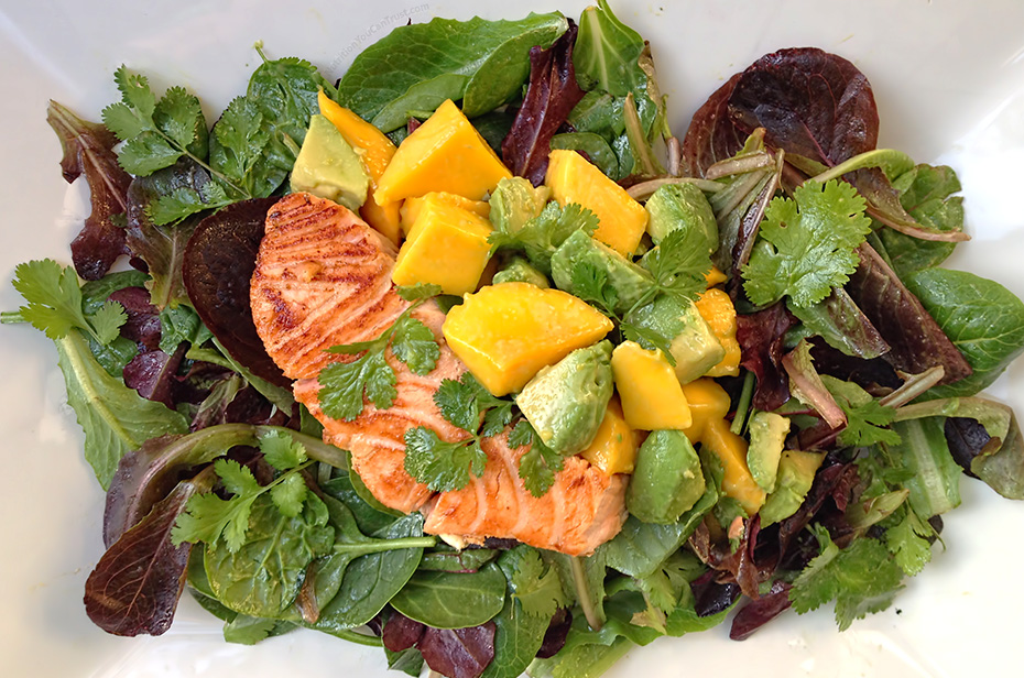 Maple Salmon Salad - Individual